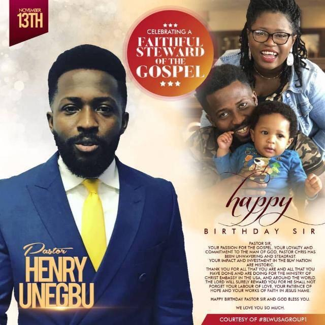 Happy Birthday Pastor Henry! You're