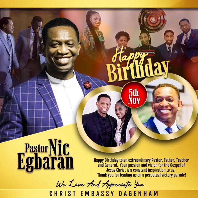 Celebrating My Amazing Pastor Today