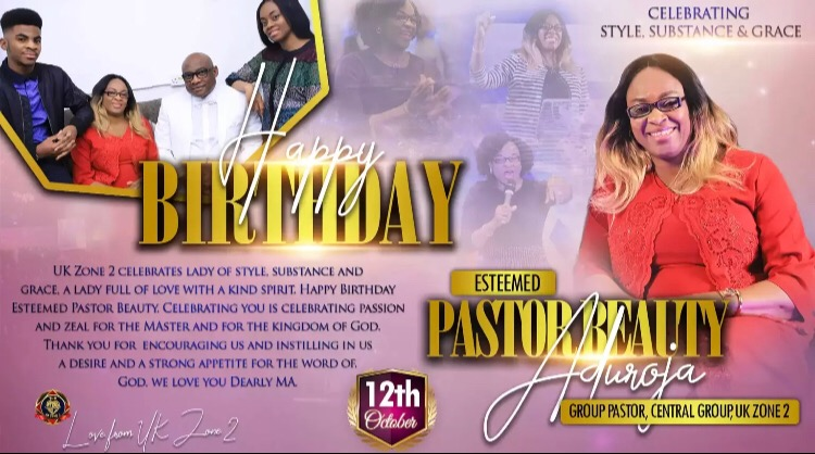 Happy Birthday Pastor Beauty Ma!
