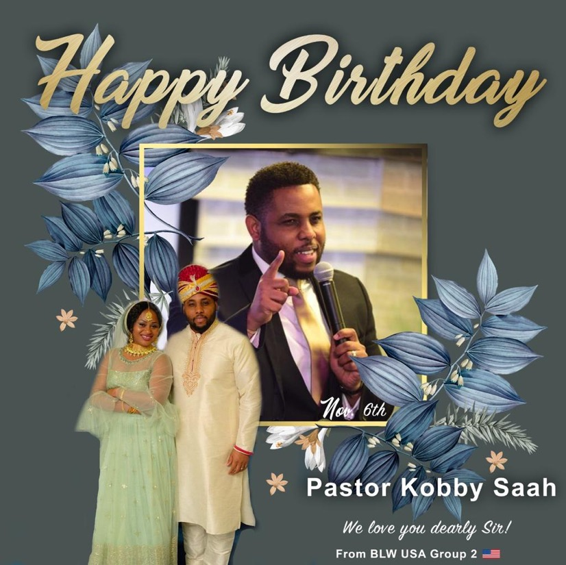 Happy Birthday Pastor Sir!!! I