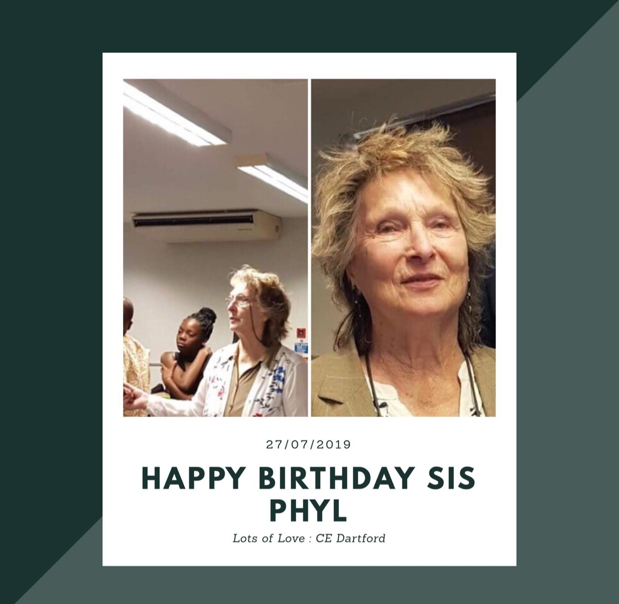Happy birthday dearest Sis Phyl.