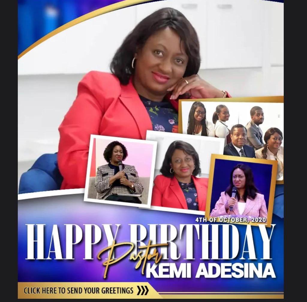 Happy Birthday Pastor Kemi We
