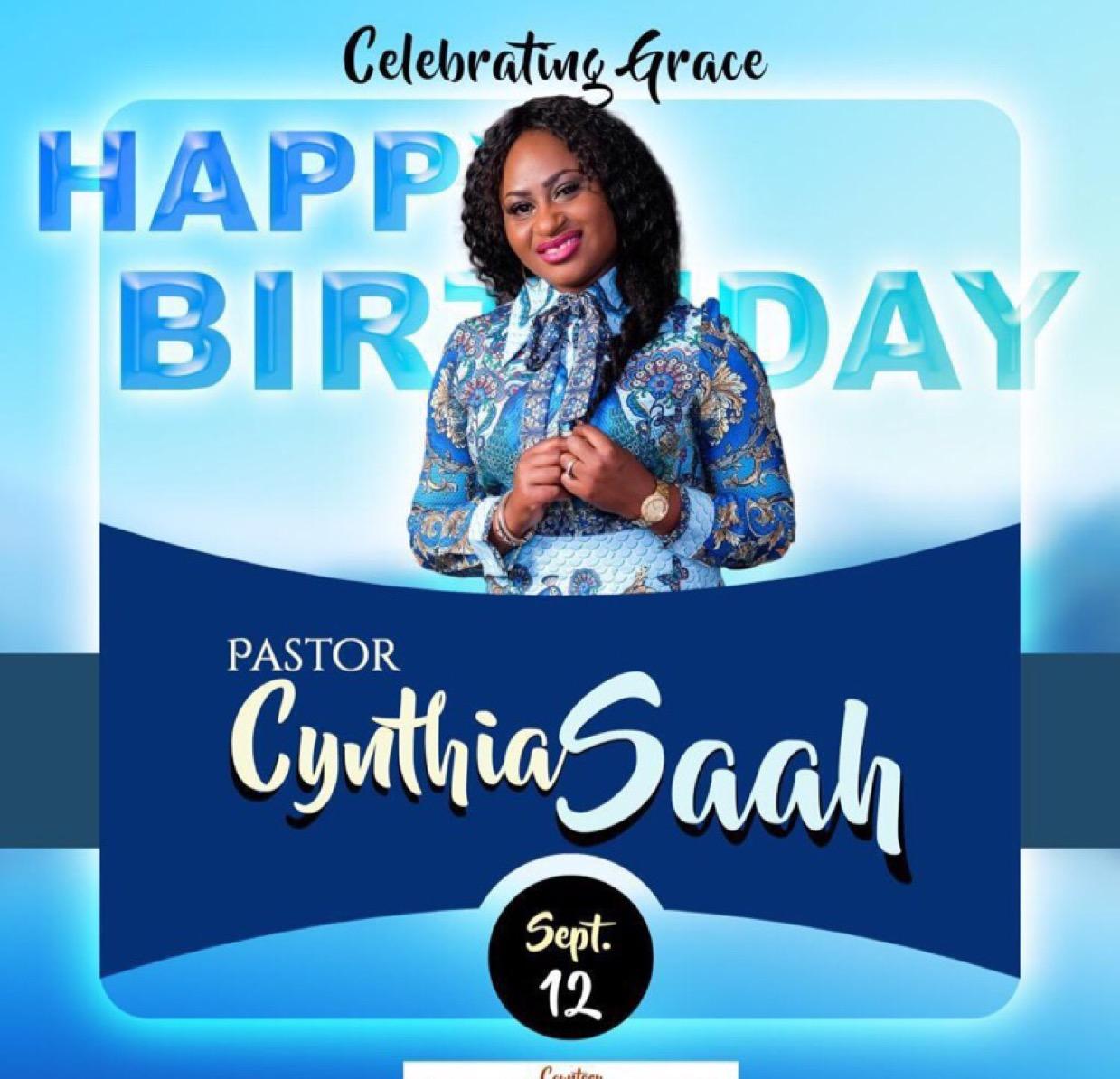 Happy Birthday @Pastorcynthia thank you