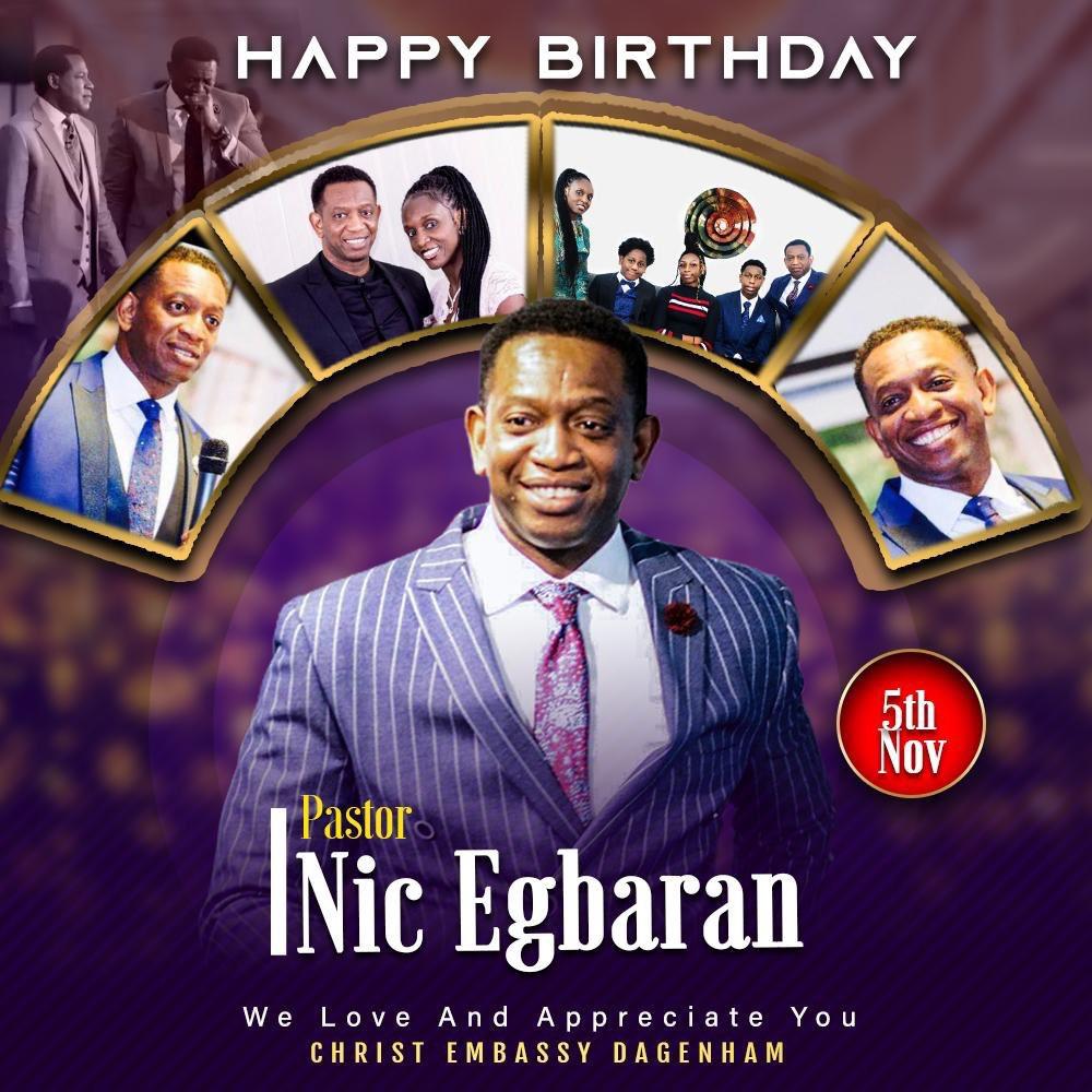 Happy Birthday My Pastor Nic
