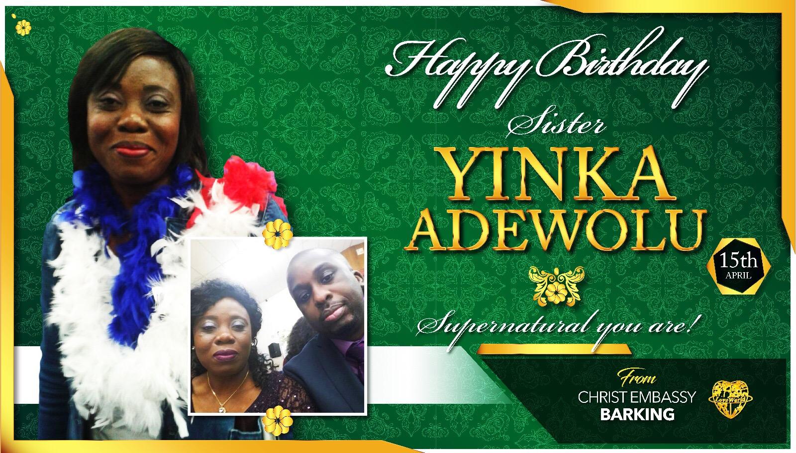 Happy birthday sweet sis Yinka