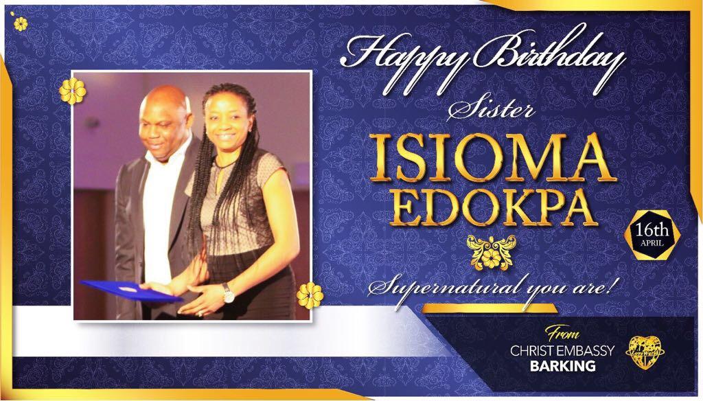 Happy supernatural birthday sis Isioma