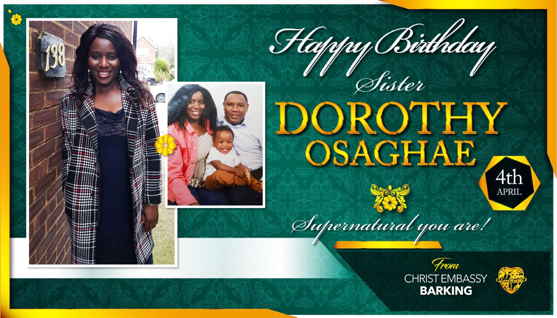 Happy birthday sis Dorothy Keep