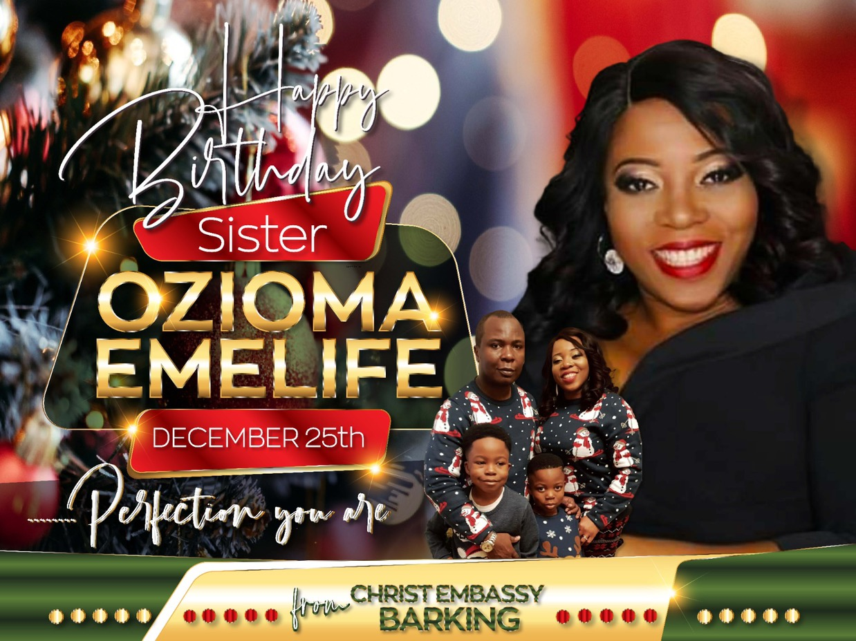 Happy glorious birthday sis Ozioma