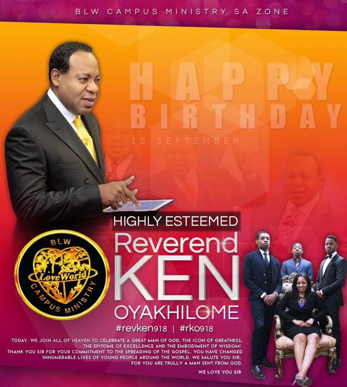 Happy Birthday Pastor Sir #revken918