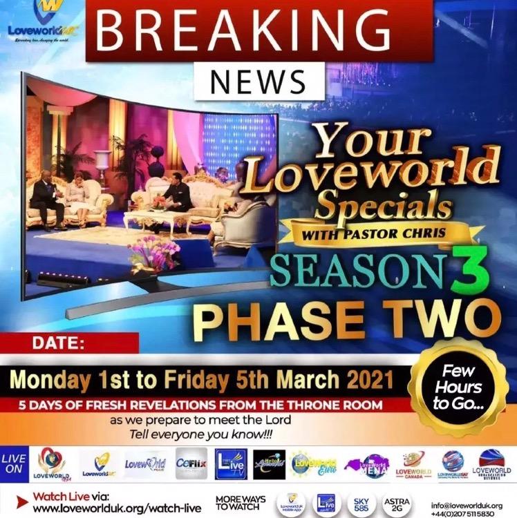 Your LoveWorld Specials Season 3