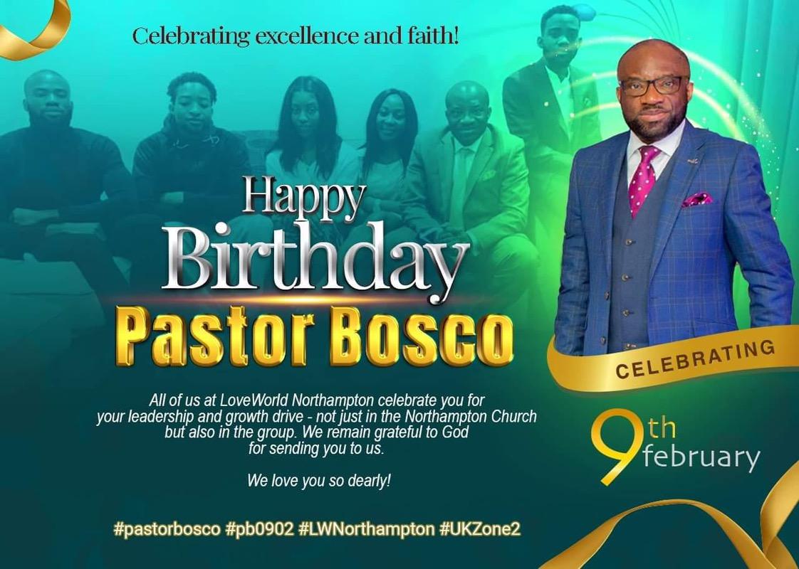 Happy birthday Pastor. I love