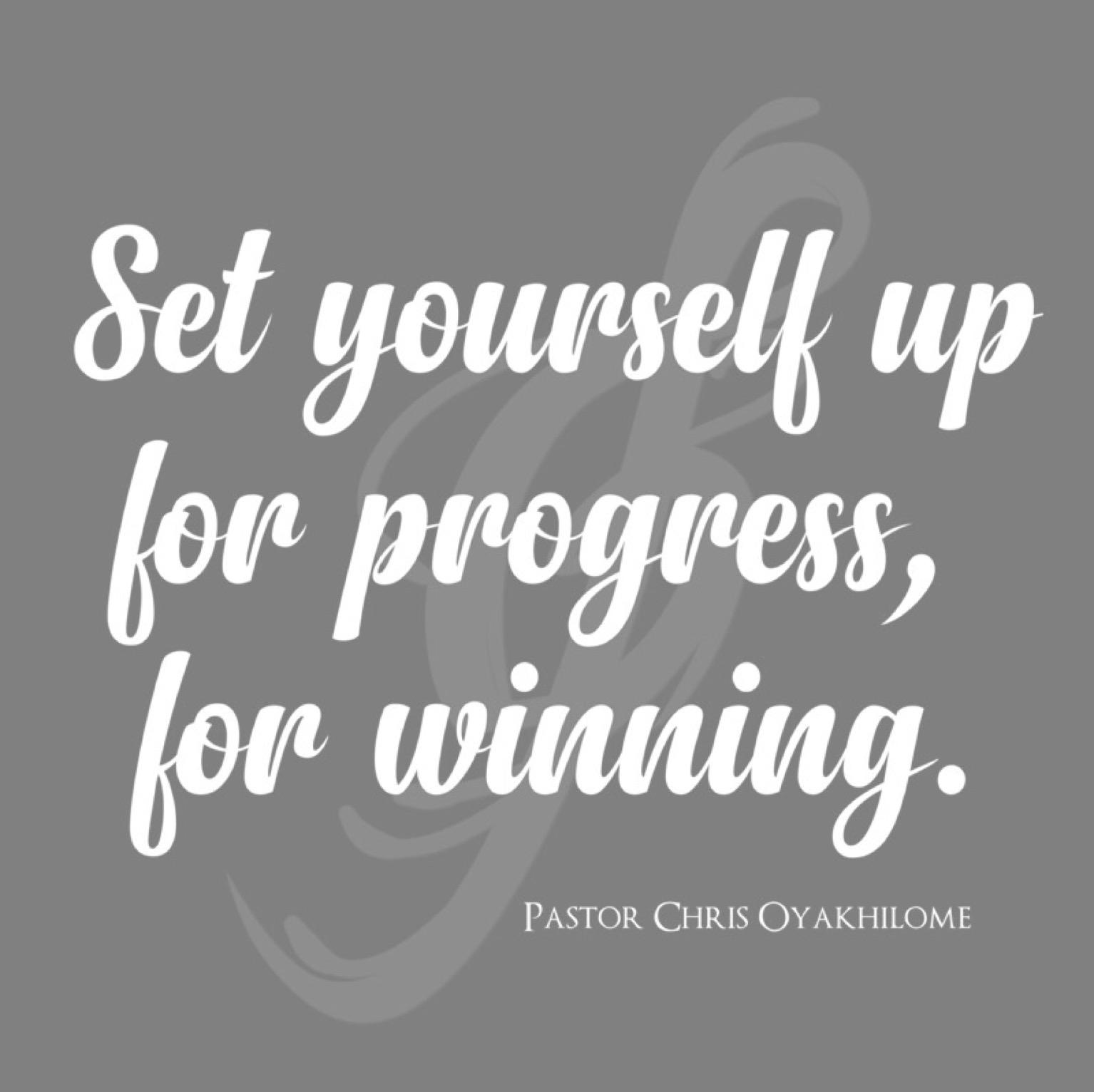 #setyourselfup #for #progress #for #winning