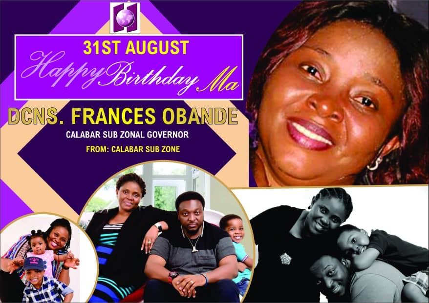 Happy Birthday Dcns Frances Obande