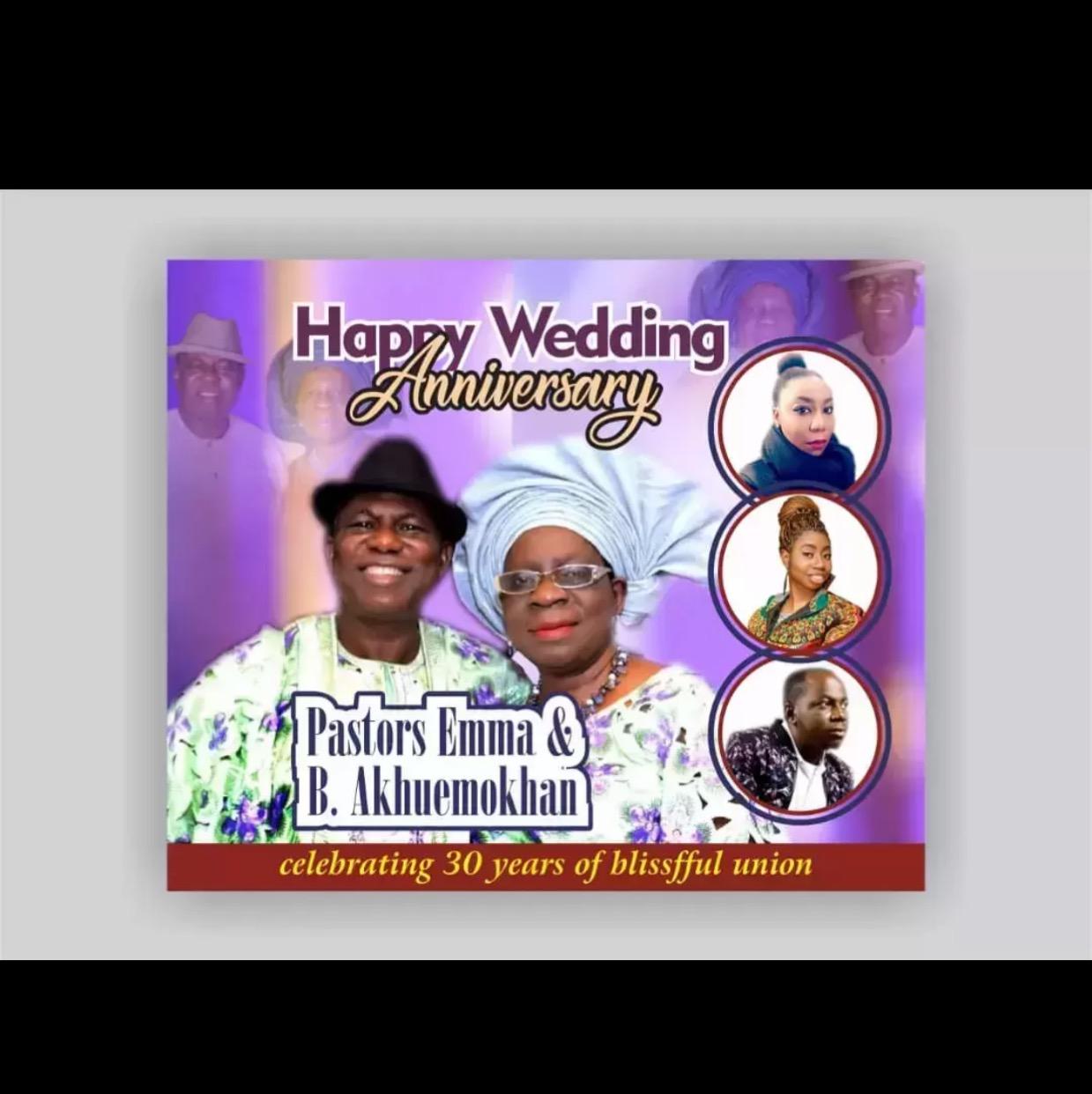 Happy Wedding Anniversary Pastor Sir/ma!!!!