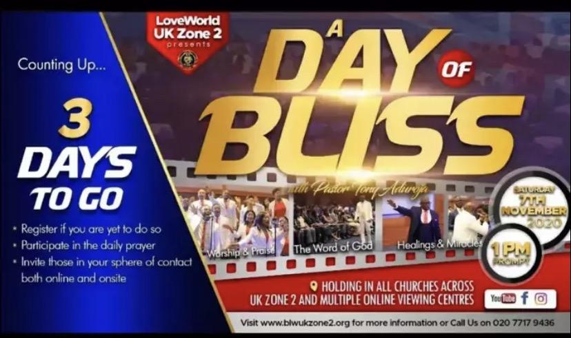 #ADAYOFBLISS2020 #UKZONE2 #LWAYLESBURY Saturday 7