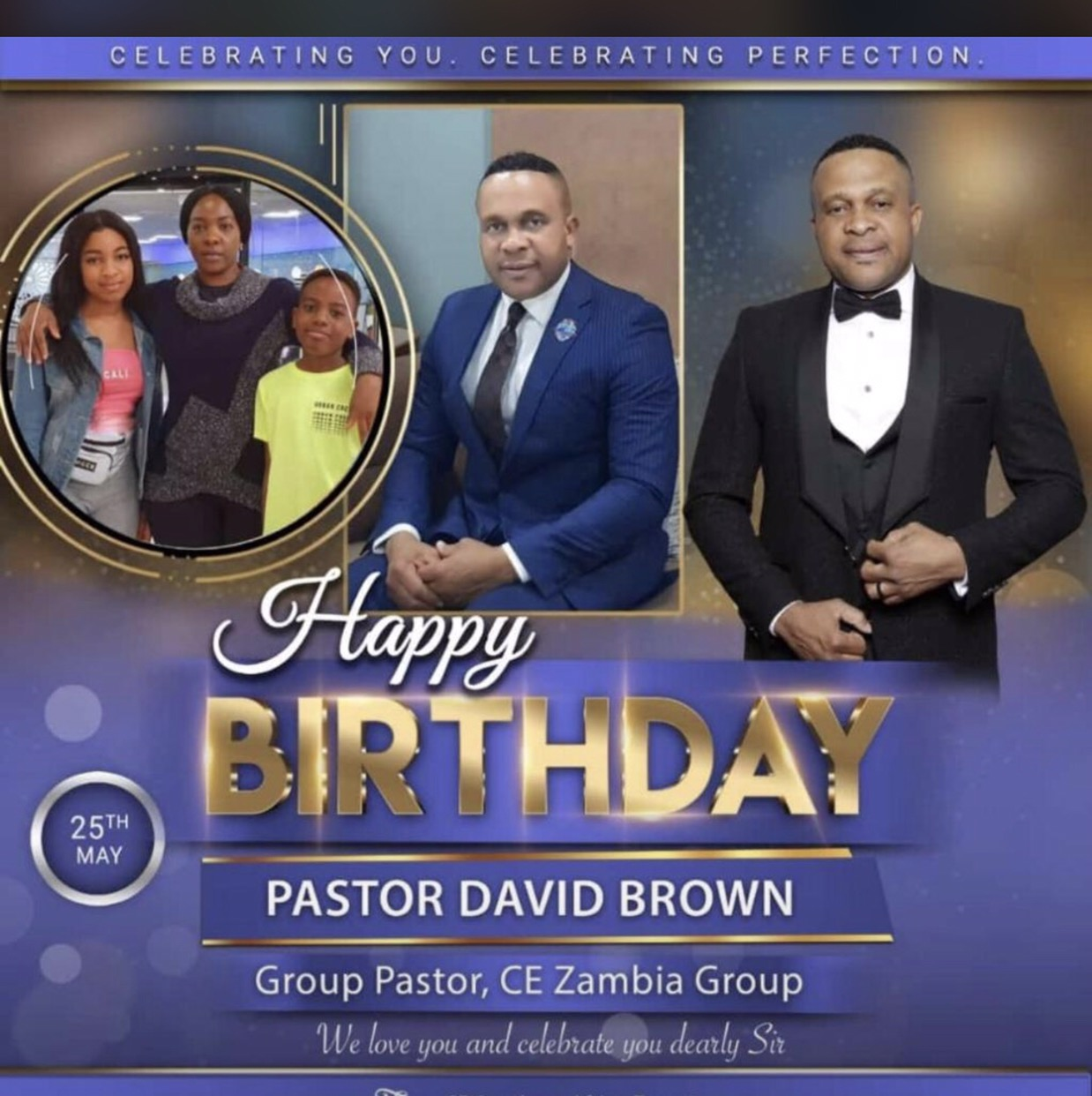 Happy Birthday Pastor David Brown