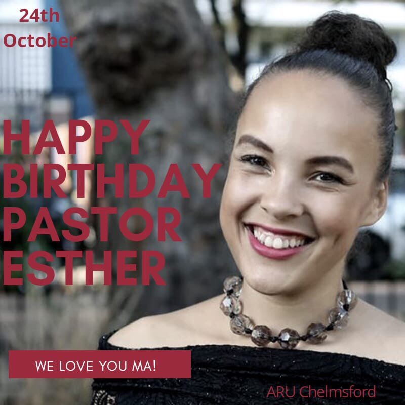 Happy Birthday Pastor Esther