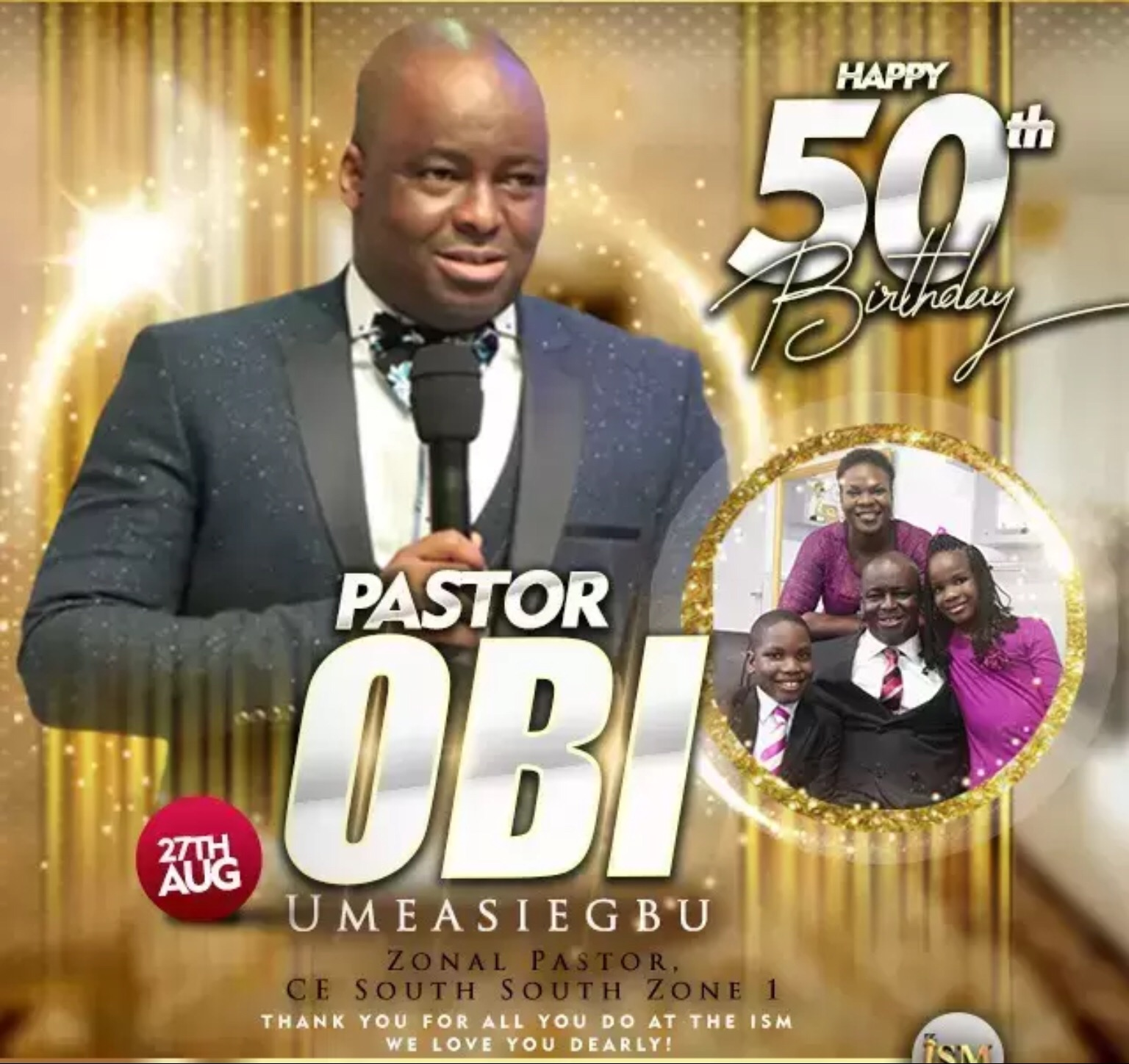 HBD esteemed Pastor Obi. We
