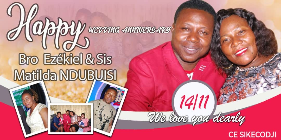 HAPPY WEDDING ANNIVERSARY. BRO EZEKIEL