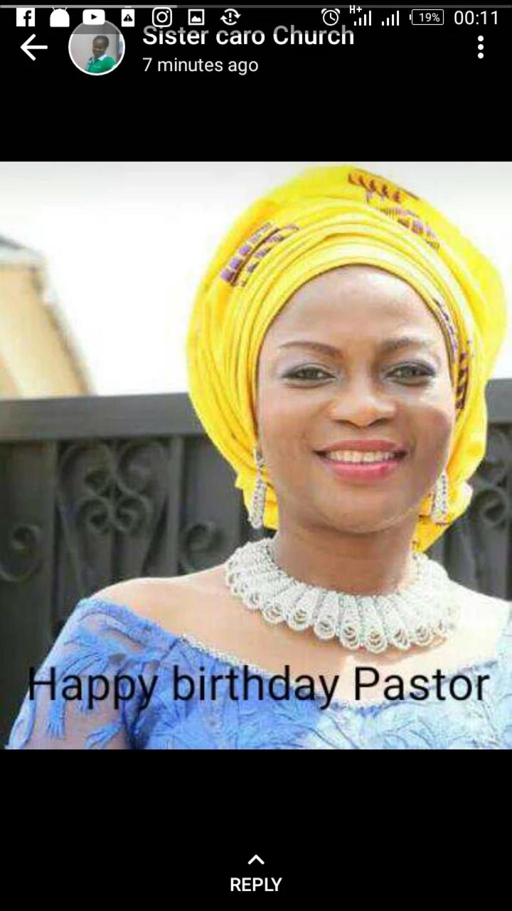 Happy Birthday Esteemed Pastor Lola.