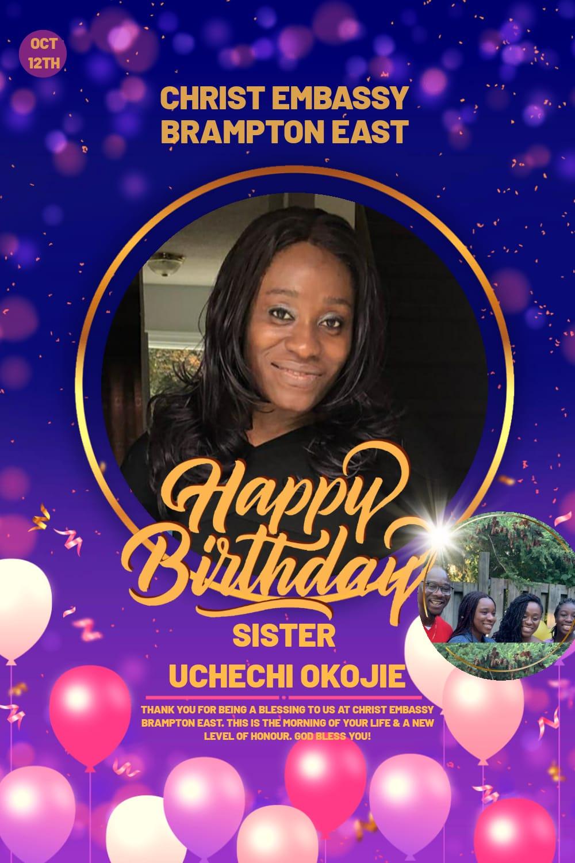 HBD Dear Sister Uchechi. Thank
