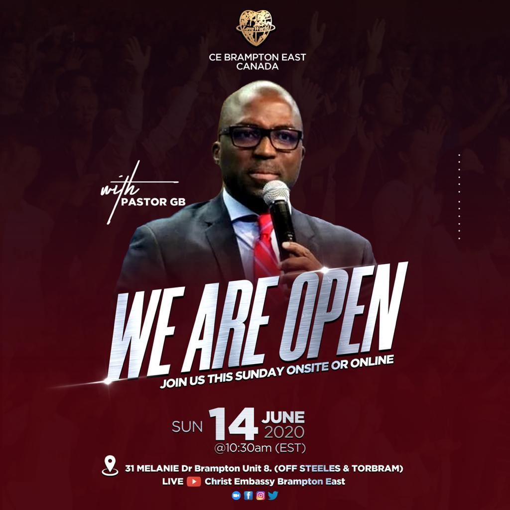 We are open ! Glory
