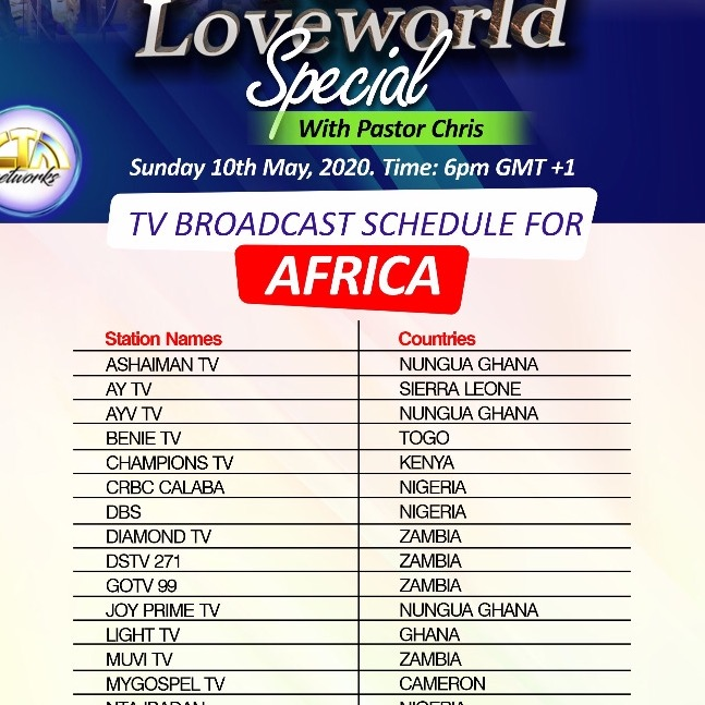 Your loveworld special with Pastor