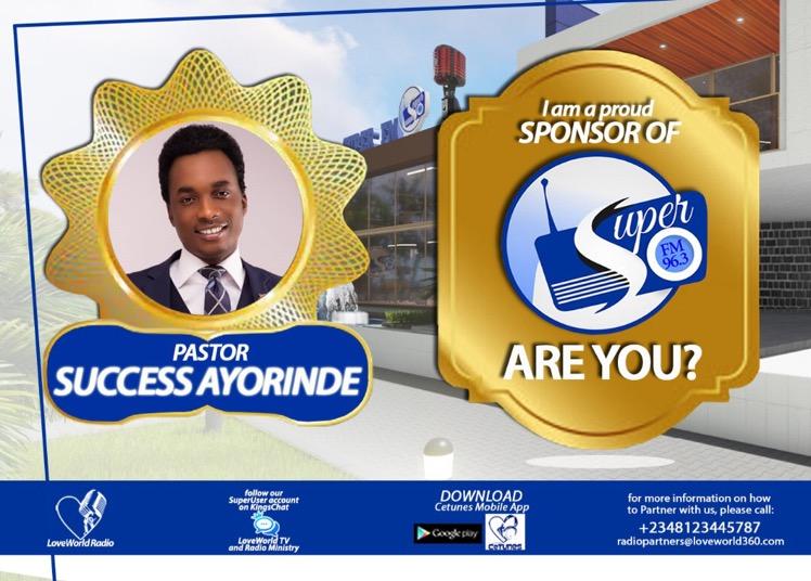 Esteemed Pastor Success Ayorinde and