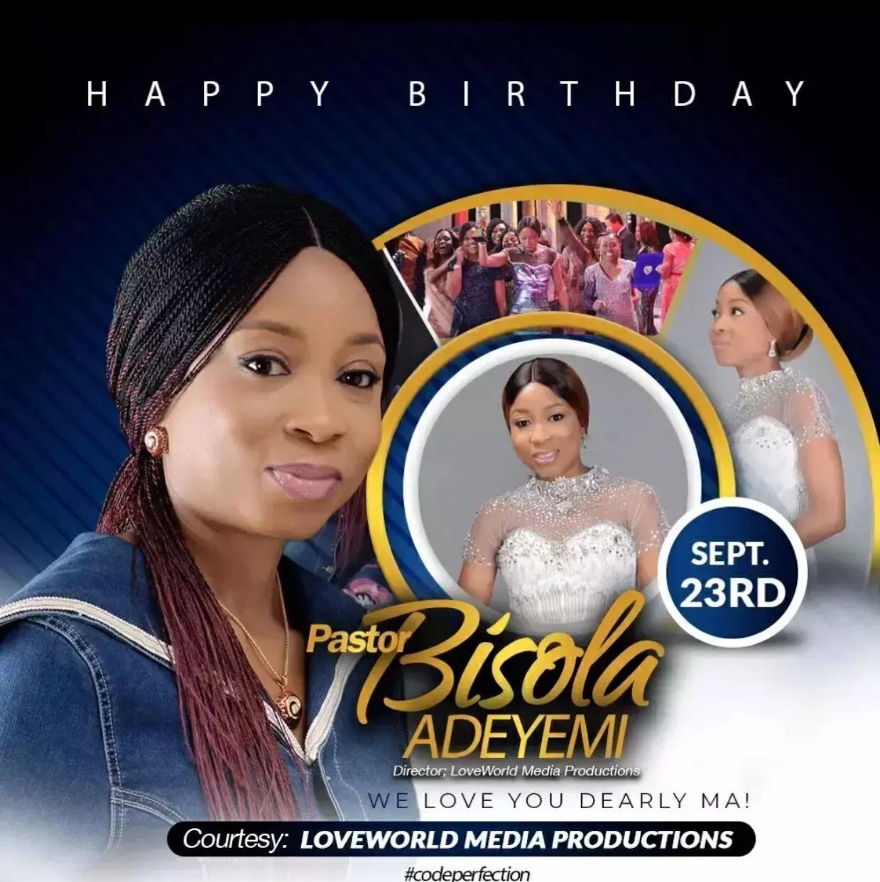 Happy Birthday Dearest Pastor ma.