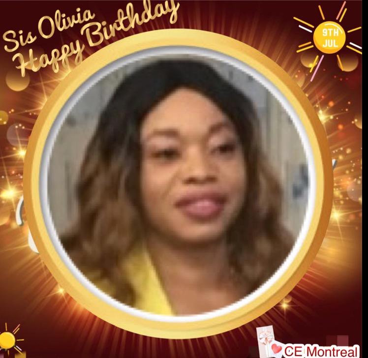 Happy birthday Sis Olivia. Glorious