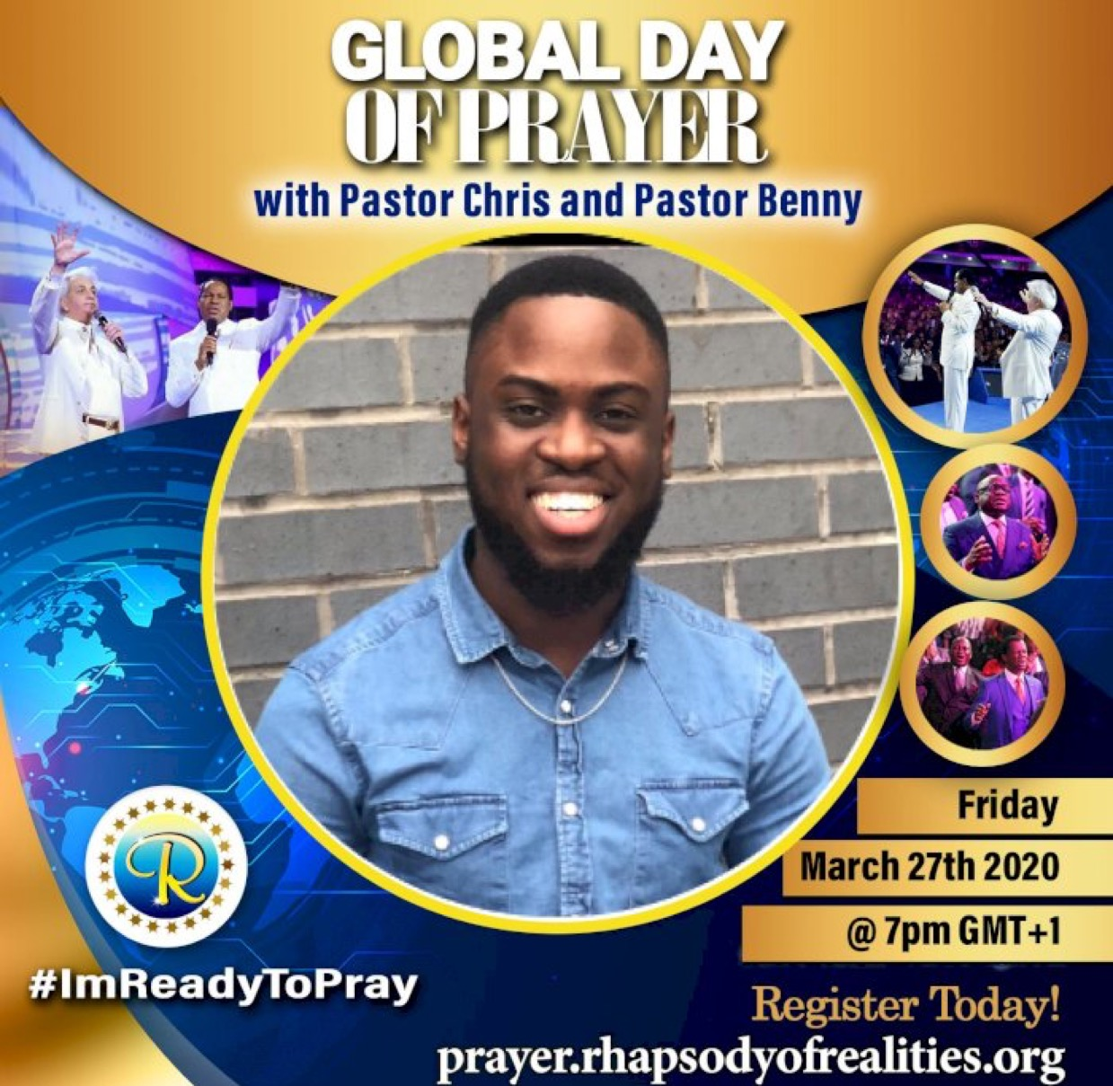 I'm ready! Are you? #GlobalDayOfPrayer