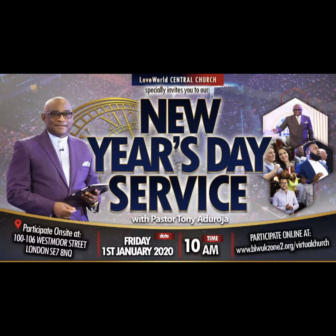New Year Service ongoing with