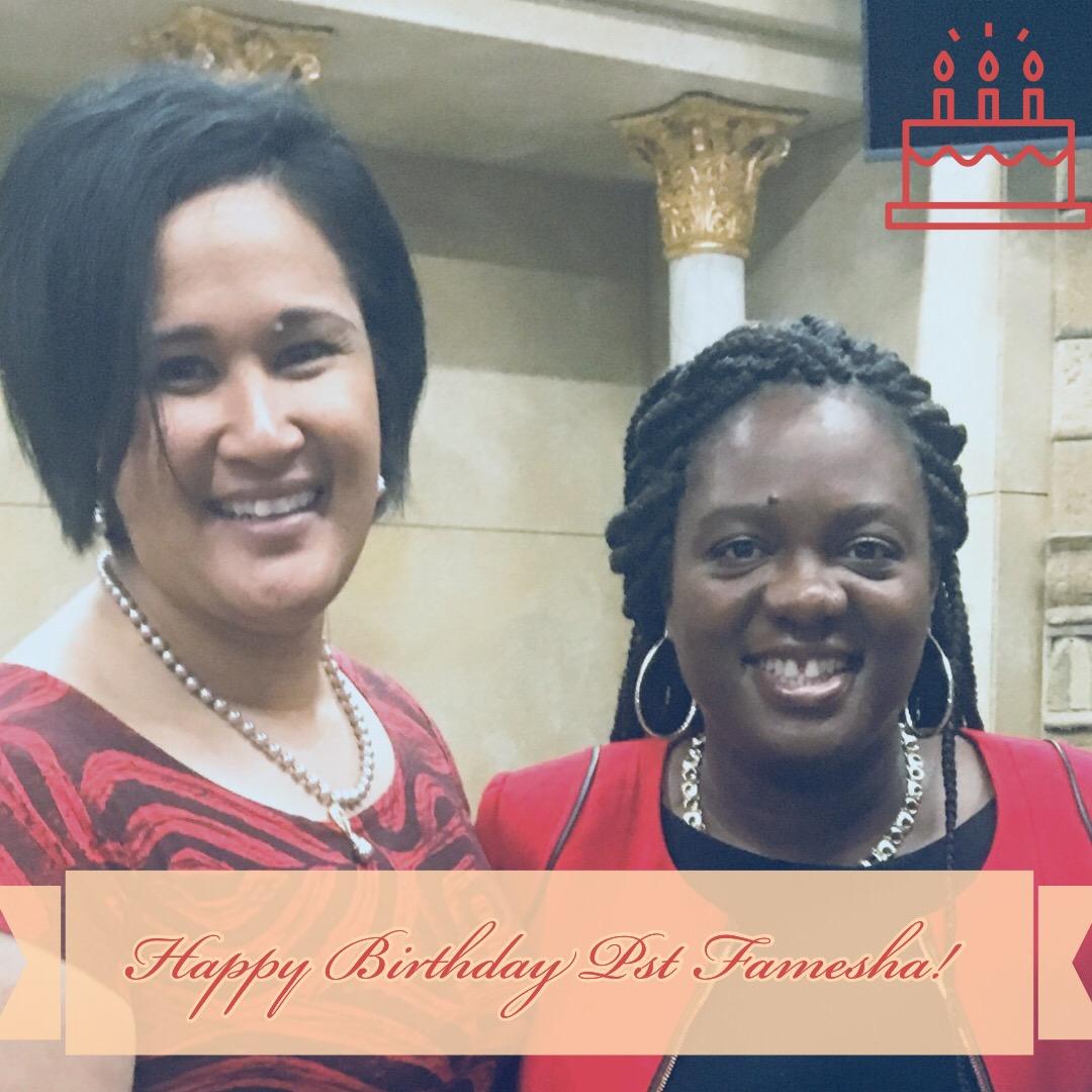 Happy Birthday @pastorfamesha! I love