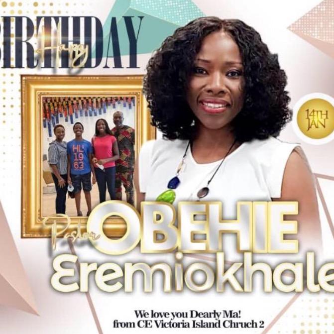 Happy birthday pastor ma, your