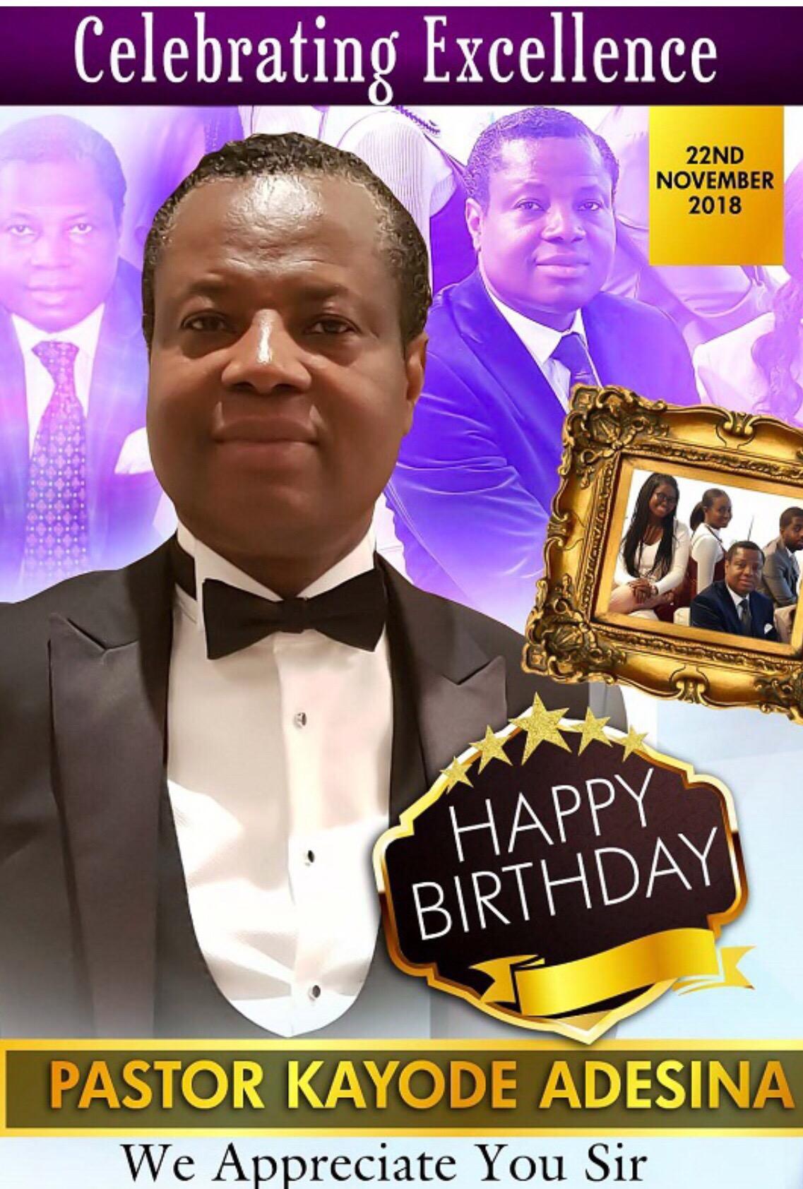 Happy Birthday Pastor Sir...Thank you