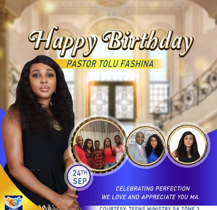 Happy birthday Pastor Tolu ma.
