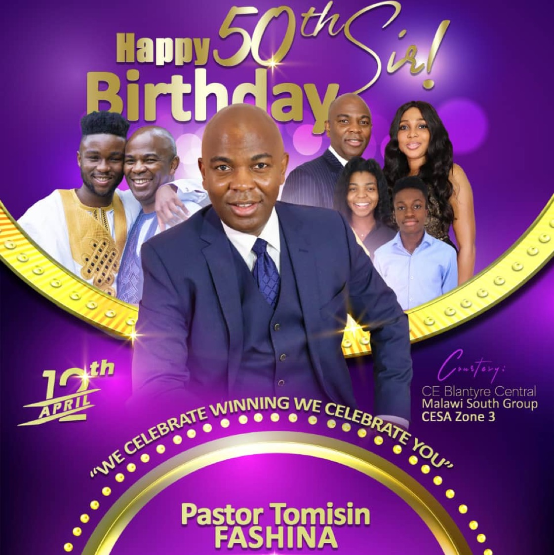 It's Pastor T's birthday. I
