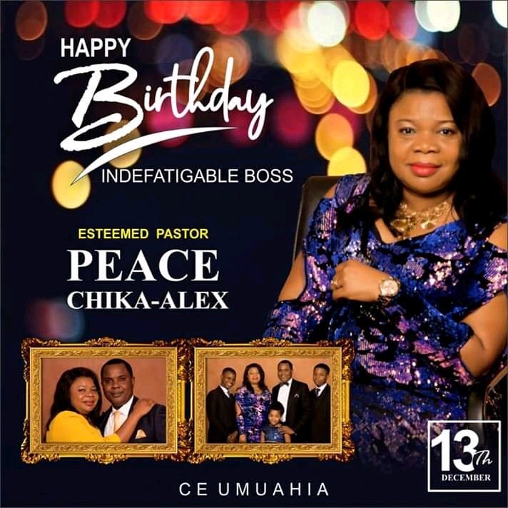 Happy birthday Pastor Ma. You're