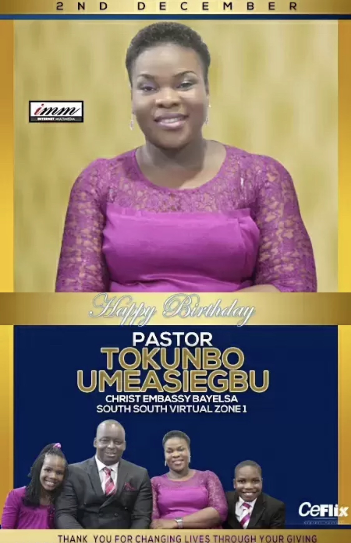 Happy birthday dear pastor Toks.