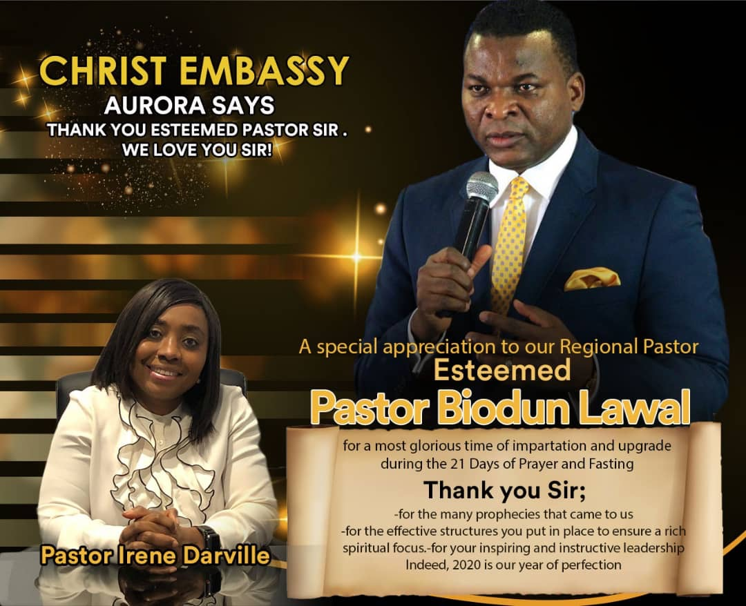 Christ Embassy Aurora says Thank