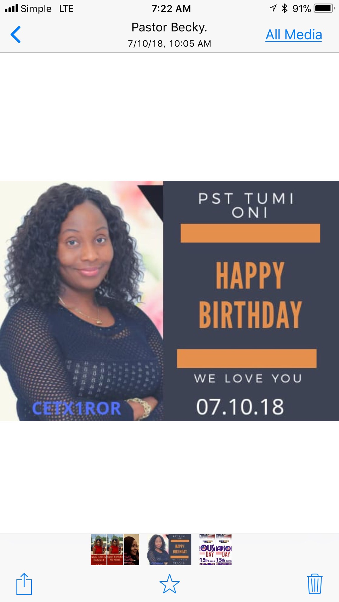 Still celebrating our awesome Pastor