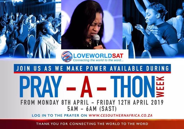 Pray-A-Thon 5am to 6 am