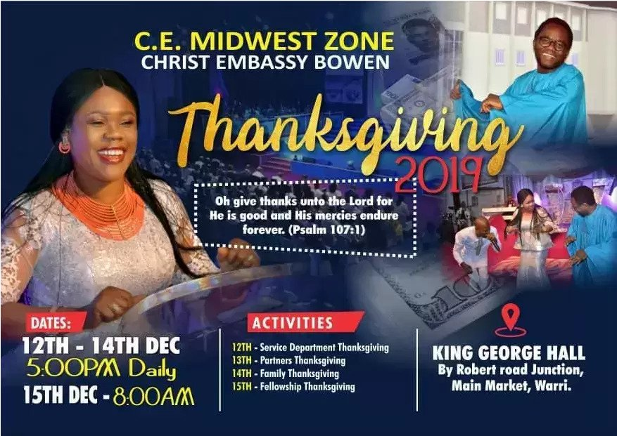 #CEMWZThanksgiving #Thanksgivingservice2019 #Cewar