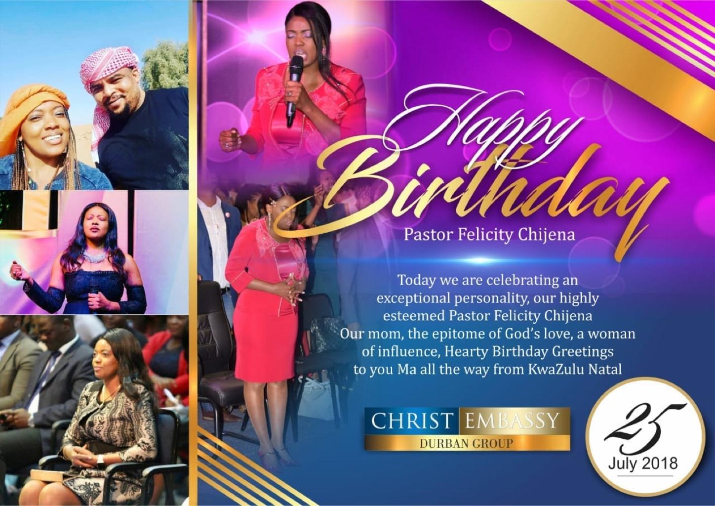 Happy birthday Pastor Felly. We