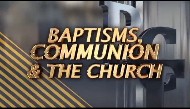 Baptism is the testimony of