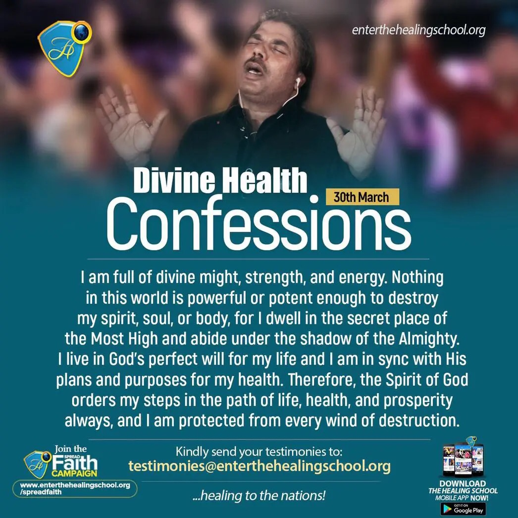 Divine Health Confessions for 30