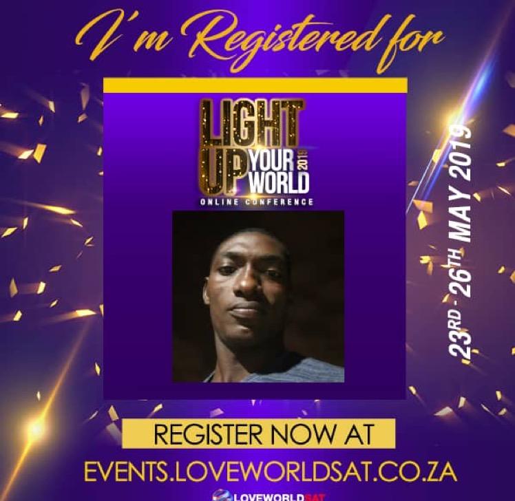 Registered and Ready! #lightupyourworld #LUYWC