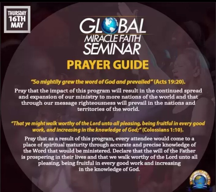 Let's pray for the #GMFS
