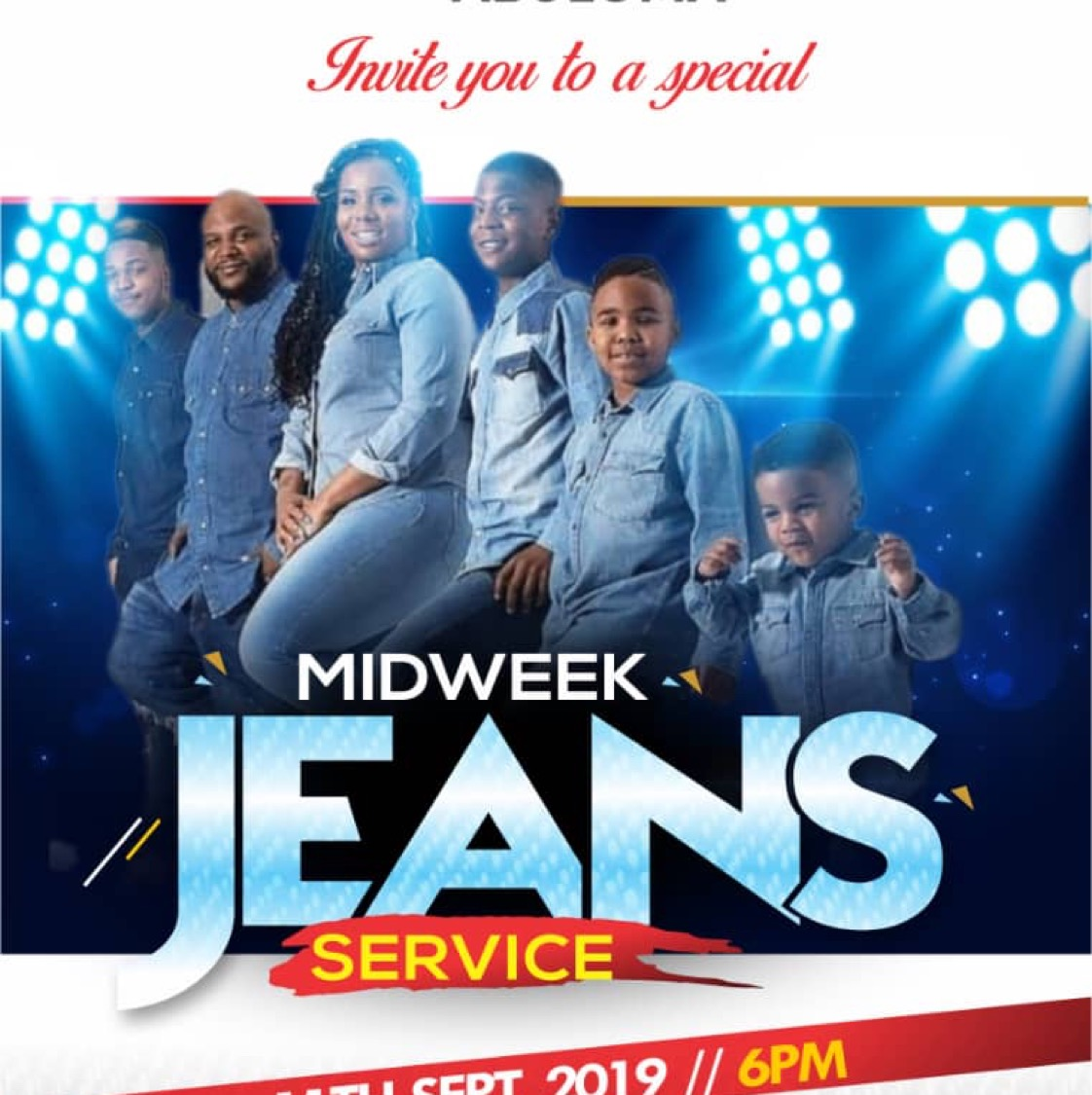 Mid week Jean service with
