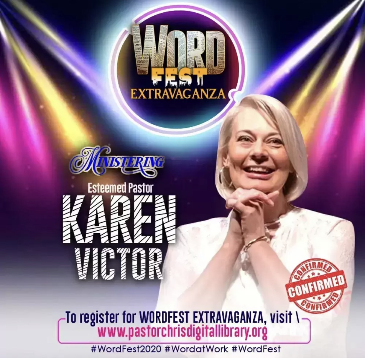 🎉🌏🇺🇸CONFIRMED MINISTERS AT WORDFEST EXTRAVAGAN